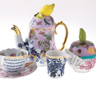 Serveware, Drinkware, Dishware, Porcelain, Cup, Tableware, Ceramic, Teacup, Teapot, Purple,