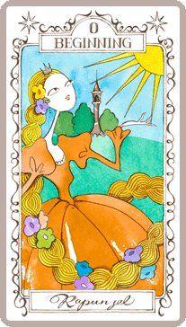 プリンセス・タロットカード「ラプンツェル」のイラスト