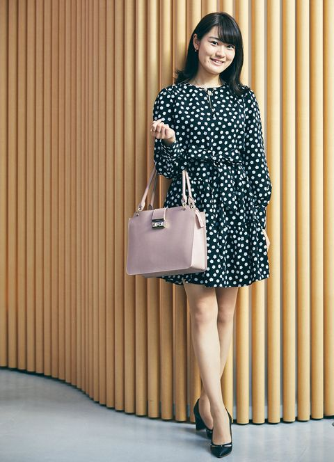 Clothing, Shoulder, Fashion model, Dress, Fashion, Pattern, Leg, Footwear, Design, Polka dot,