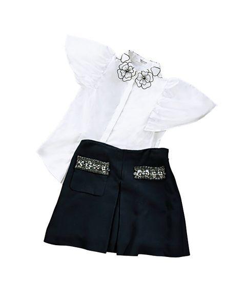 White, Clothing, Black, Product, Shorts, Skort, Sleeve, Uniform, Trunks,