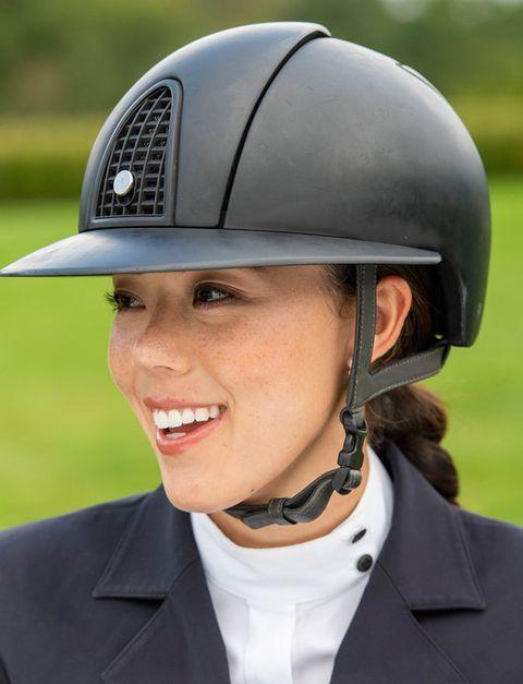 Helmet, Equestrian helmet, Clothing, Personal protective equipment, Hat, Headgear, Fashion accessory, Sports equipment, Sports gear, Headgear,
