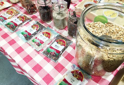 Mason jar, Food, Snack, Meal, Granola, Cuisine, Breakfast, Vegetarian food, Home accessories, Dish,
