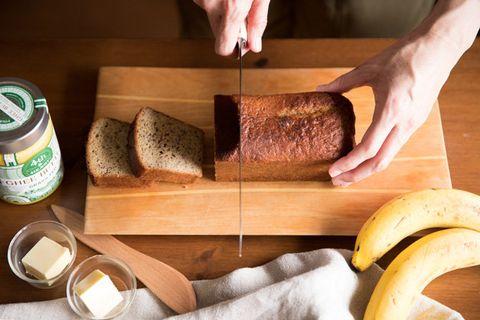 Food, Dish, Cuisine, Ingredient, Loaf, Bread, Cutting board, Rye bread, Graham bread, Sourdough,