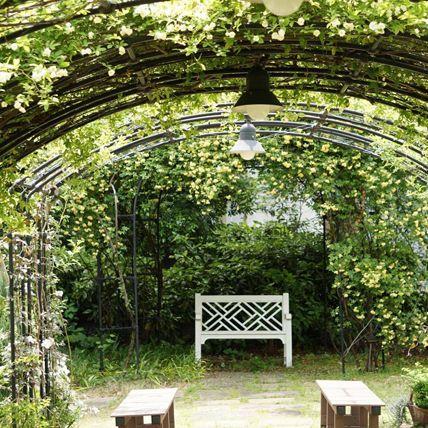 Arch, Architecture, Pergola, Botany, Tree, Garden, Plant, Botanical garden, Shrub, Grass,