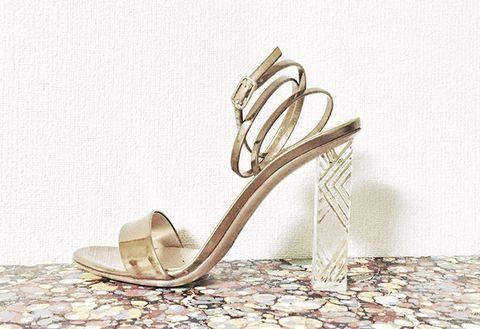 Footwear, High heels, Sandal, Bridal shoe, Shoe, Beige, Slingback, Basic pump,