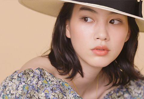 Hair, Face, Lip, Skin, Hat, Clothing, Beauty, Eyebrow, Chin, Sun hat,
