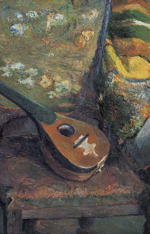 Art, Artwork, Paint, Art paint, Still life photography, String instrument, Visual arts, Painting, Still life, Folk instrument,