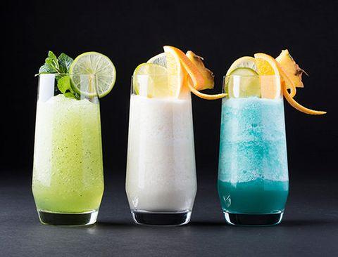 Liquid, Fluid, Drink, Glass, Citrus, Juice, Cocktail, Highball glass, Produce, Tableware,