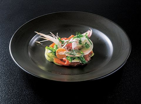 Dish, Cuisine, Food, Ingredient, Garnish, À la carte food, Recipe, Seafood, Produce, Scampi,