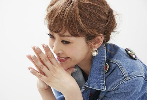 Finger, Denim, Earrings, Style, Wrist, Bangs, Nail, Eyelash, Body piercing, Gesture,
