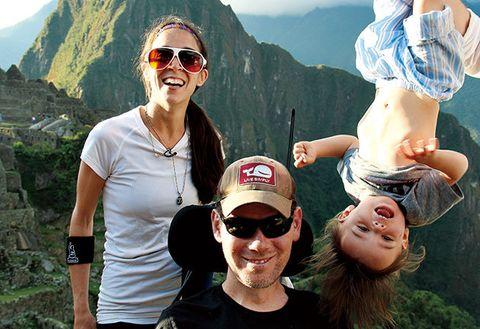 Eyewear, Glasses, Vision care, Fun, People, Mountainous landforms, Tourism, Sunglasses, Mountain range, Happy,
