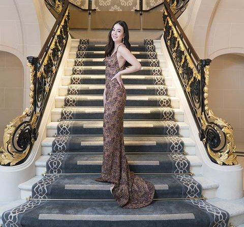Stairs, Room, Architecture, Dress, Floor, Handrail, Art,