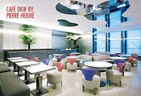 Interior design, Room, Building, Ceiling, Furniture, Design, Architecture, Table, Space, Cafeteria,
