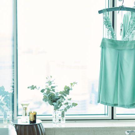 Green, Aqua, Turquoise, Blue, Yellow, Curtain, Room, Dress, Textile, Interior design,