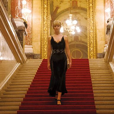 Fashion, Dress, Yellow, Haute couture, Architecture, Flooring, Wood, Floor,