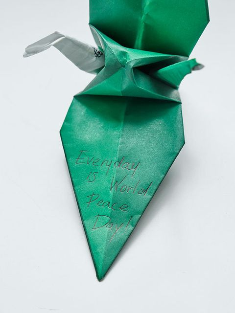 Green, Ribbon, Origami, Craft, Art paper, Paper, Art, Tie, Gift wrapping, Fashion accessory,