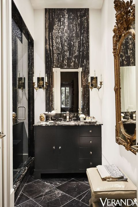 Room, Black, Property, Interior design, Tile, Bathroom, Furniture, Floor, Building, House,