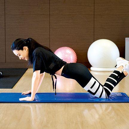 Physical fitness, Arm, Human leg, Leg, Knee, Pilates, Joint, Mat, Exercise, Balance,