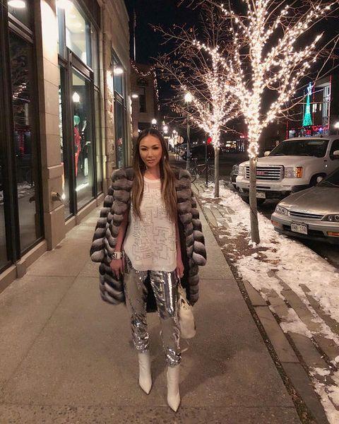 Photograph, Clothing, Snapshot, Street fashion, Fashion, Street, Sidewalk, Snow, Pedestrian, Infrastructure,