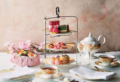 Teacup, Tableware, Serveware, Porcelain, Saucer, Dishware, Tea party, Pink, Food, Still life,