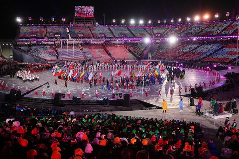 Sport venue, Crowd, Performance, Stage, Arena, Event, Public event, Audience, Pink, Concert,
