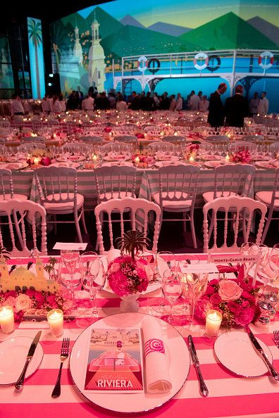 Decoration, Pink, Function hall, Stage, Event, Rehearsal dinner, Banquet, Table, Party, Wedding reception,