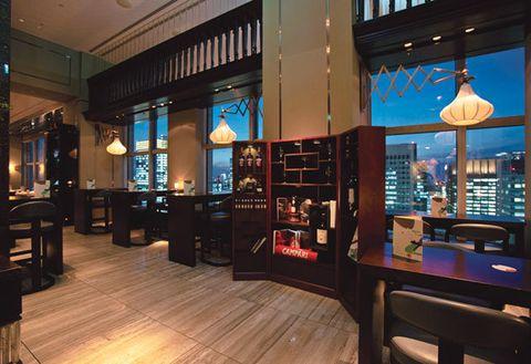 Building, Restaurant, Room, Interior design, Café,