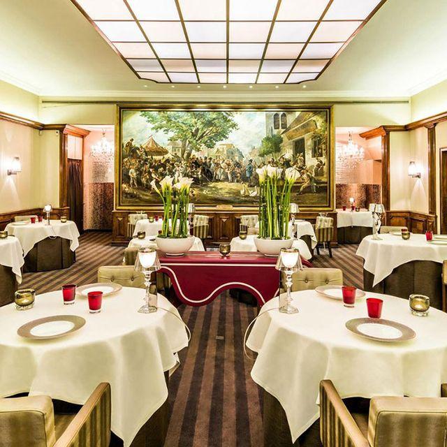 Restaurant, Room, Building, Function hall, Interior design, Table, Business, Real estate, Furniture, Resort,