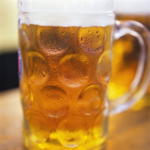 Drink, Beer, Beer glass, Beer stein, Drinkware, Yellow, Lager, Glass, Mug, Alcoholic beverage,