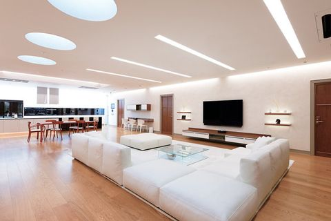 Interior design, Room, Ceiling, Furniture, Property, Building, Floor, Living room, Lighting, Architecture,