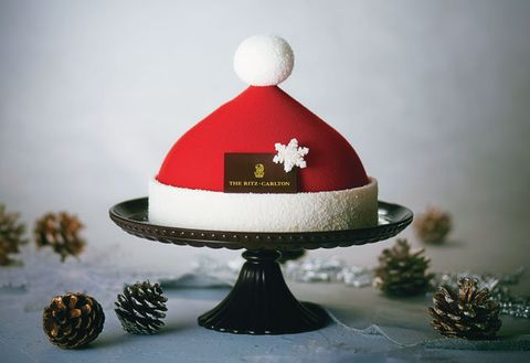 Red, Cake, Tree, Headgear, Dessert, Food, Hat, Cap,