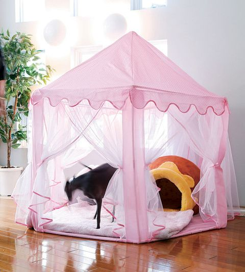 Product, Mosquito net, Pink, Tent, Canopy bed, Furniture, Room, Play, Bed, Shade,