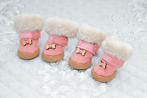 Pink, Footwear, Shoe, Fur, Font, Toy, Wool, Snow boot, Boot, Plush,
