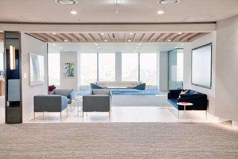 Ceiling, Room, Interior design, Property, Furniture, Building, Floor, Lighting, House, Living room,