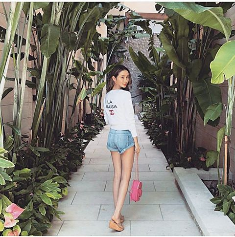 Green, Clothing, Beauty, Shorts, Pink, Fashion, Botany, Summer, Leg, Plant,