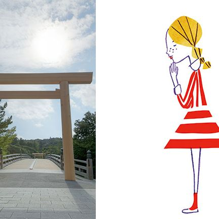 Torii, Design, Day dress, Costume design, Line art, Japanese architecture, Shinto shrine, Costume, Fashion illustration, Column,