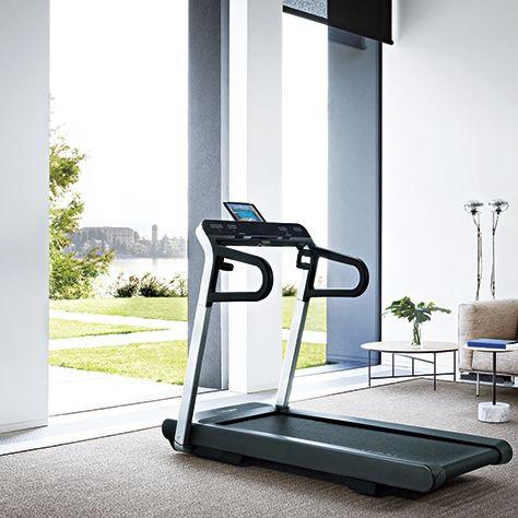 Exercise machine, Treadmill, Exercise equipment, Room, Furniture, Sports equipment, Floor, Table,