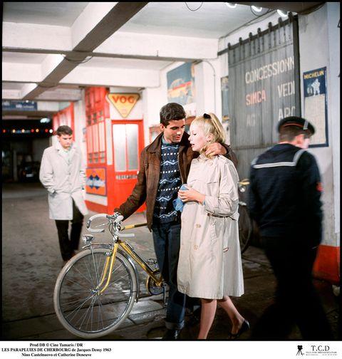 Photograph, Snapshot, Yellow, Fashion, Photography, Bicycle, Street fashion, Street, Vehicle, Event,