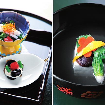 Food, Dish, Cuisine, Kaiseki, Ingredient, Comfort food, Garnish, Dishware, À la carte food, Plate,