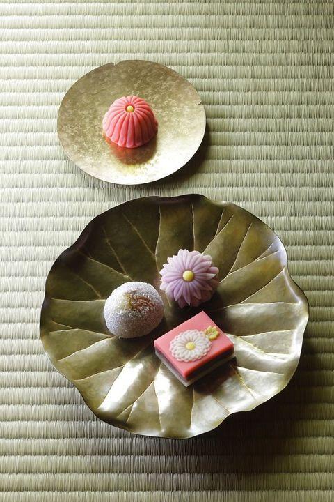 Pink, Food, Higashi, Mochi, Cuisine, Sweetness, Dish, Flower, Tableware, Petal,