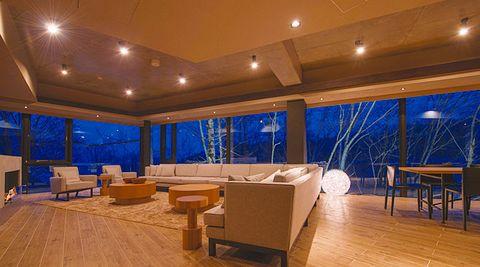 Room, Property, Interior design, Building, Floor, Lighting, Furniture, Real estate, Table, Ceiling,