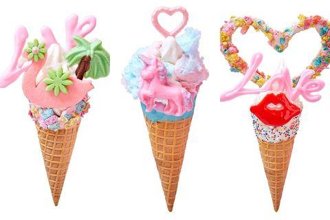 Ice cream cone, Soft Serve Ice Creams, Frozen dessert, Ice cream, Cone, Dessert, Food, Dairy, Gelato, Sorbetes,
