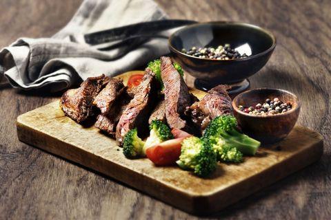Dish, Cuisine, Food, Flat iron steak, Ingredient, Meat, Steak, Mixed grill, Recipe, Grillades,