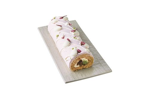 Food, Roulade, Cuisine, Dish, Swiss roll, Rectangle, Semifreddo, Sushi, Dessert, Petit four,