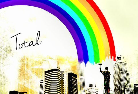 Colorfulness, Font, Tower block, Metropolis, Arch, Cityscape, Rainbow, Graphic design, Graphics, Skyscraper,