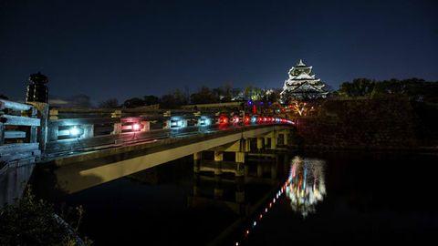 Night, Waterway, Light, Sky, Reflection, Bridge, Lighting, River, Architecture, Tree,