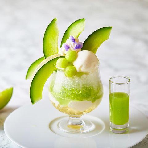 Food, Cocktail garnish, Granita, Drink, Frozen dessert, Ingredient, Non-alcoholic beverage, Cuisine, Kakigōri, Lime,