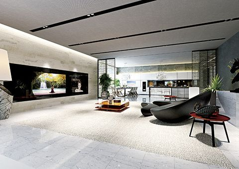 Interior design, Living room, Building, Property, Room, Floor, Architecture, Ceiling, Furniture, House,