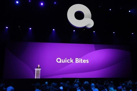 Stage, Projection screen, Technology, Display device, Projector accessory, Event, Performance, Logo, Electronic device, Graphics,