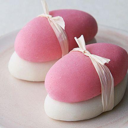 Food, Pink, Mochi, Cuisine, Dish, Marshmallow, Japanese cuisine, Dessert,